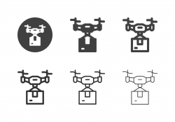 Delivery Drone Icons - Multi Series