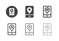 Mobile GPS Icons - Multi Series