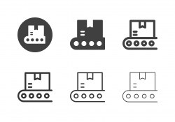 Conveyor Belt Box Icons - Multi Series