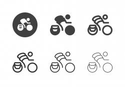 Bicycle Messenger Icons - Multi Series