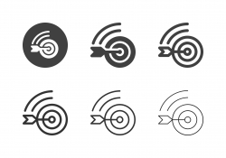 Online Target Market Icons - Multi Series