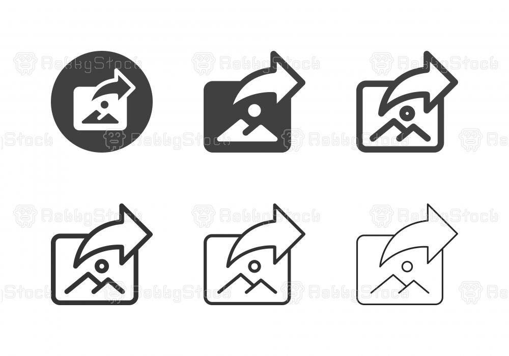 Image Sharing Icons - Multi Series