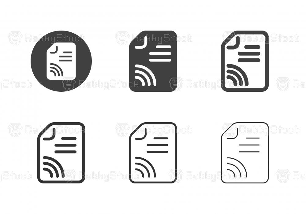 Online Document Icons - Multi Series
