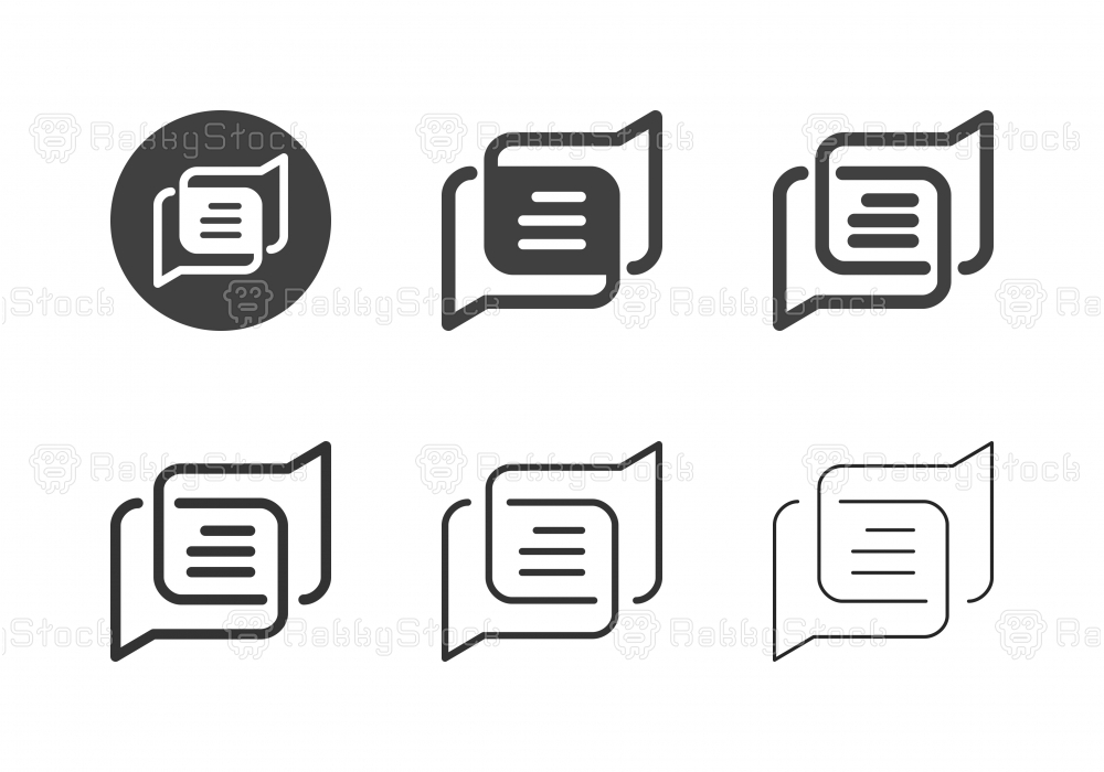 Online Discuss Icons - Multi Series