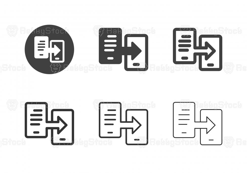Mobile Data Icons - Multi Series