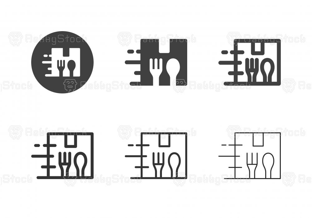 Food Box Packaging Icons - Multi Series