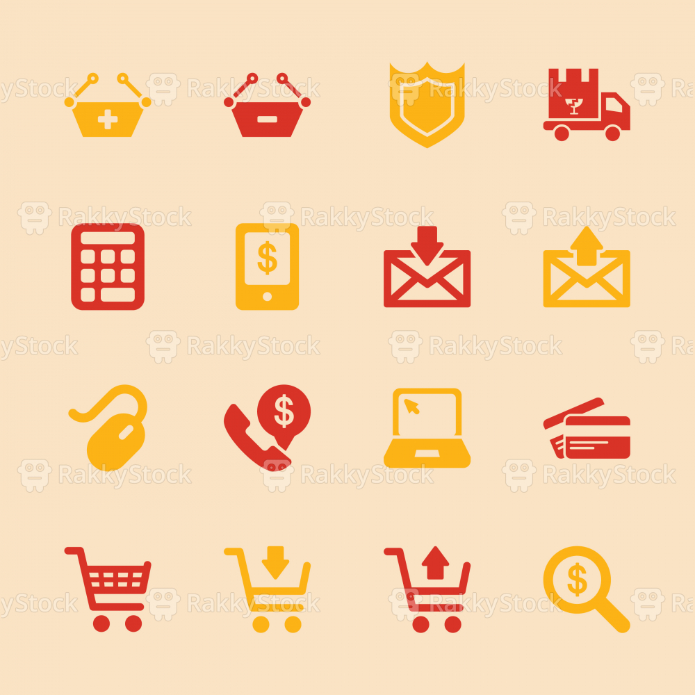 E-commerce Icons - Color Series | EPS10