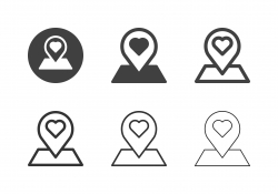 Love Location Icons - Multi Series