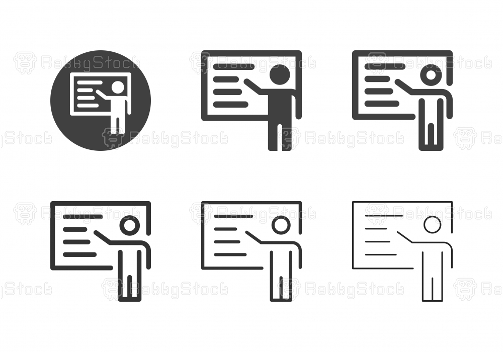 Business Presentation Icons - Multi Series
