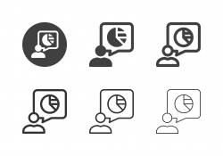 Pie Chart Speech Icons - Multi Series