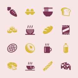Eating Icons Set 2 - Color Series | EPS10