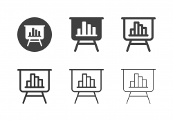 Bar Graph Board Stand Icons - Multi Series