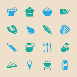 Eating Icons Set 3 - Color Series | EPS10