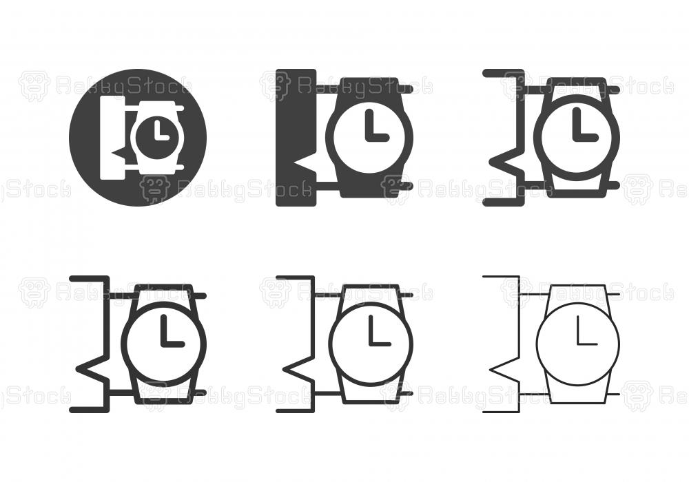 Wristwatch Icons - Multi Series