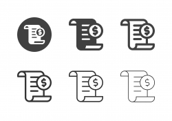 Financial Document Icons - Multi Series