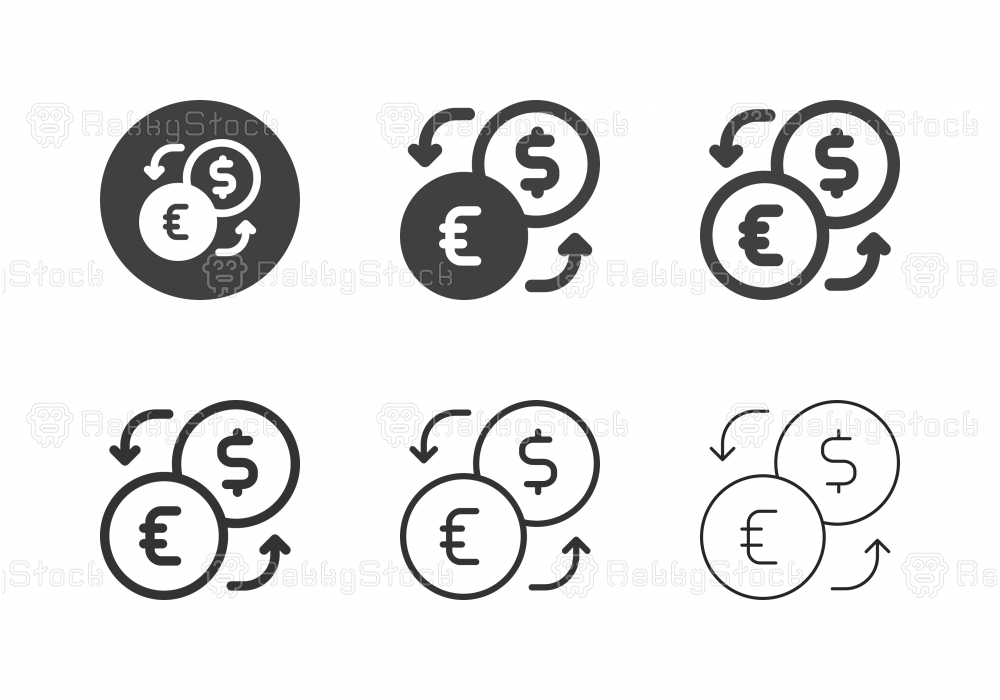 Currency Exchange Icons - Multi Series