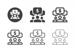 Financial Team Icons - Multi Series