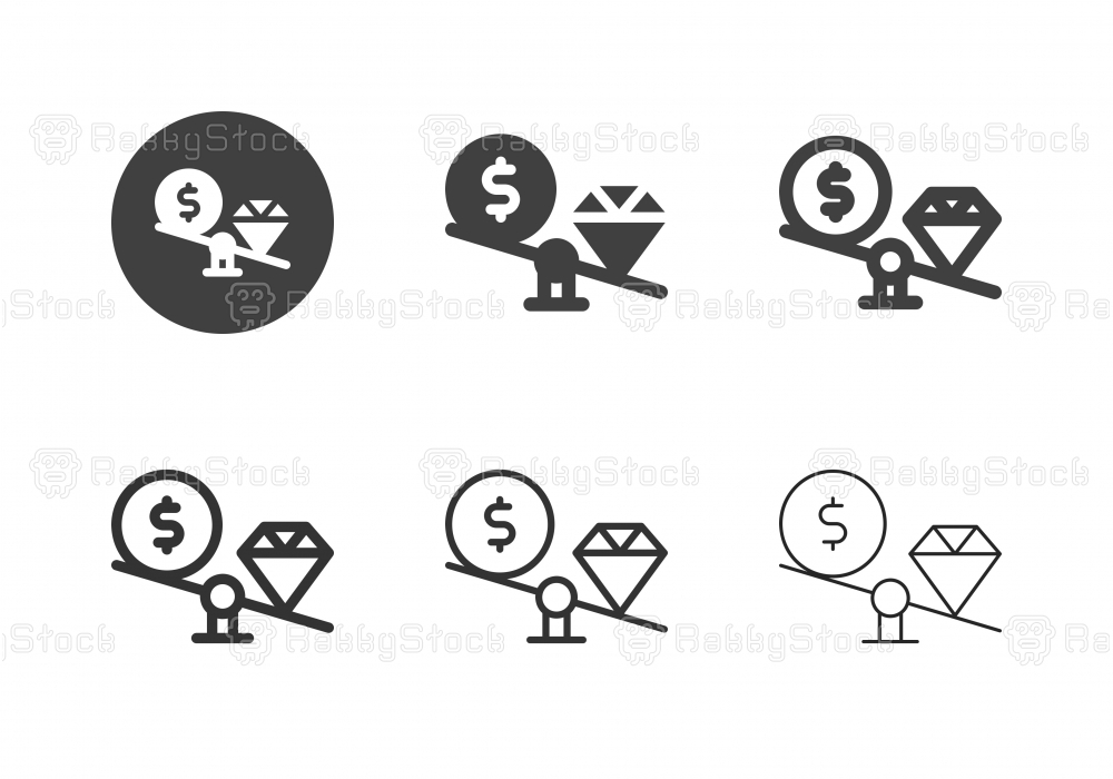Financial Balance Icons - Multi Series