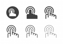 Hand Touch Icons - Multi Series