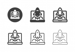 Business Project Startup Icons - Multi Series