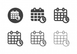Calendar Analysis Icons - Multi Series