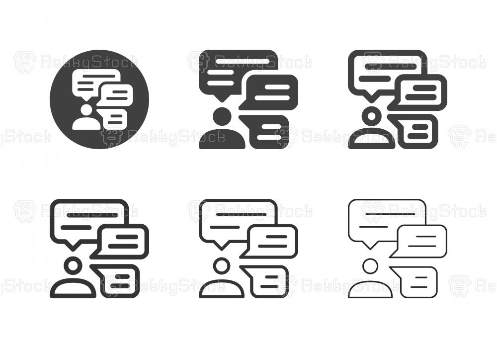 Business Talk Icons - Multi Series