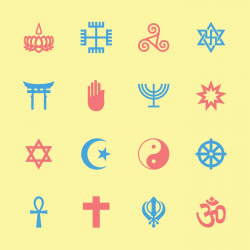 Religion Icons - Color Series | EPS10