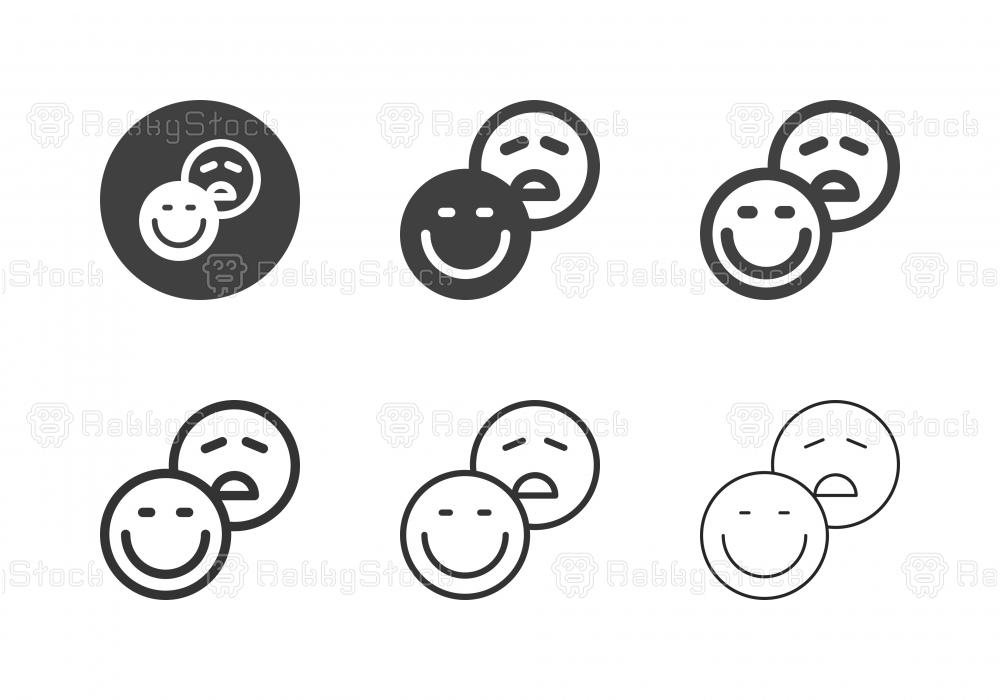 Feedback Emoji Icons - Multi Series