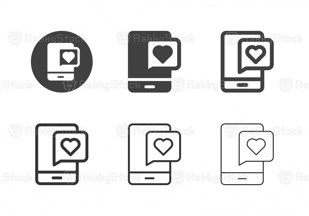 Online Dating Icons - Multi Series