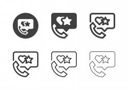 Feedback Phone Icons - Multi Series