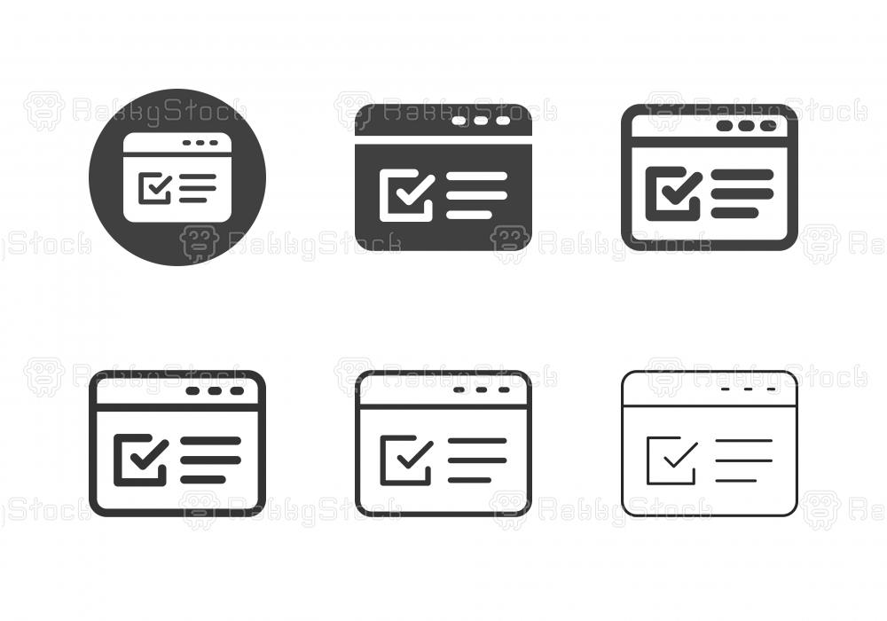 Online Form Icons - Multi Series