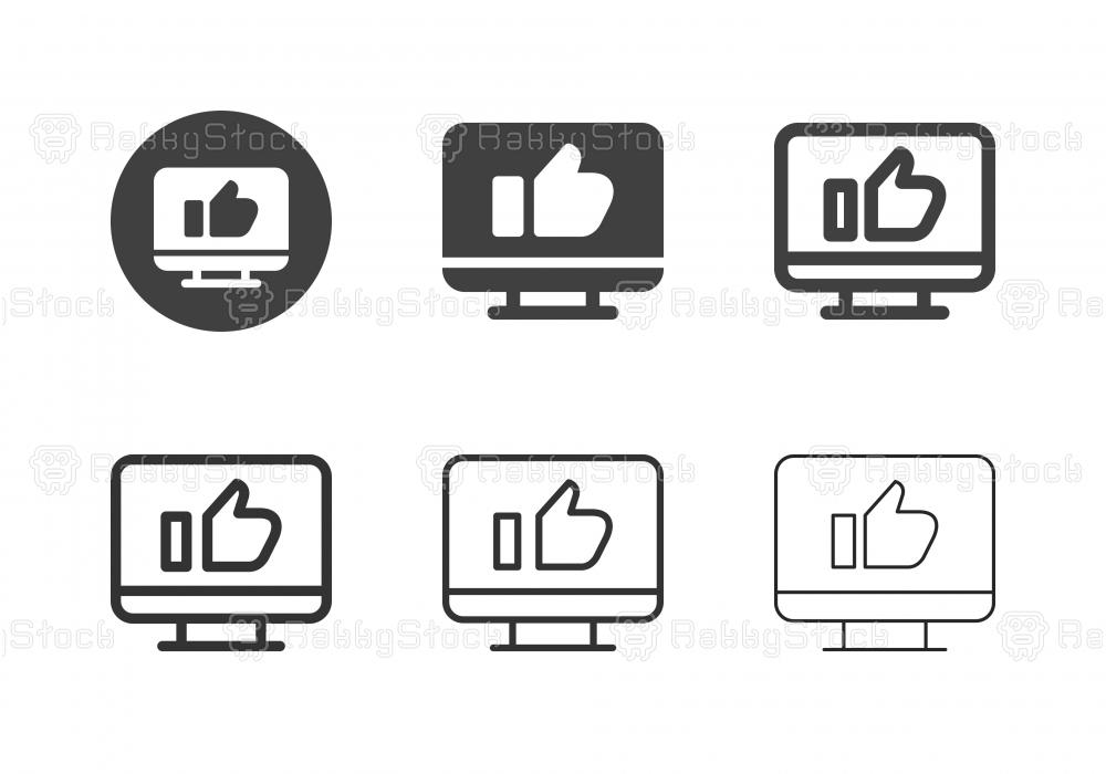 Desktop Like Button Icons - Multi Series