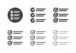 Checklist Icons - Multi Series