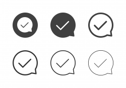 Check Mark Bubble Icons - Multi Series