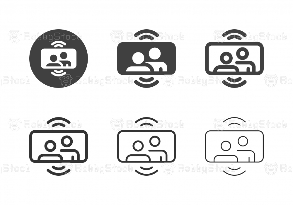 Mobile Video Call Icons - Multi Series