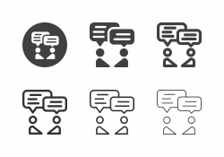 Business Talk Icons - Multi Series