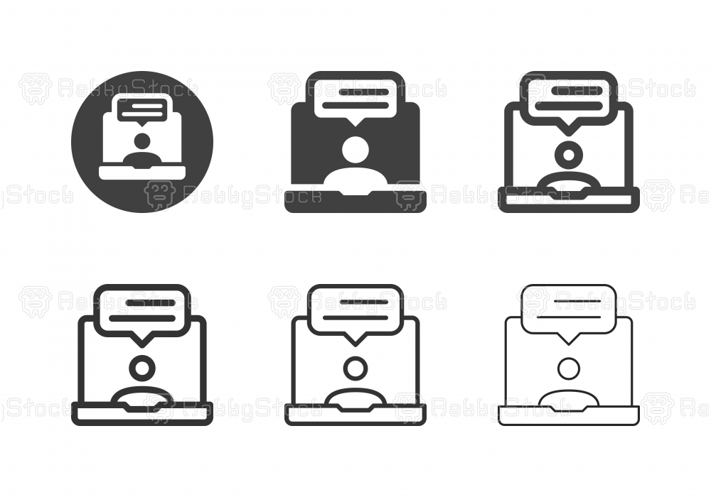 Online Video Chat Icons - Multi Series