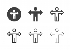 Businessman with Arrow Arm Icons - Multi Series