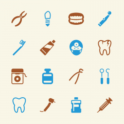 Dental Icons - Color Series | EPS10