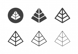 Pyramid Shape Icons - Multi Series