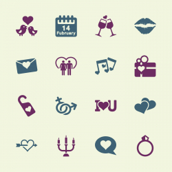 Valentines Icons - Color Series | EPS10