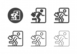 Exit Business Icons - Multi Series