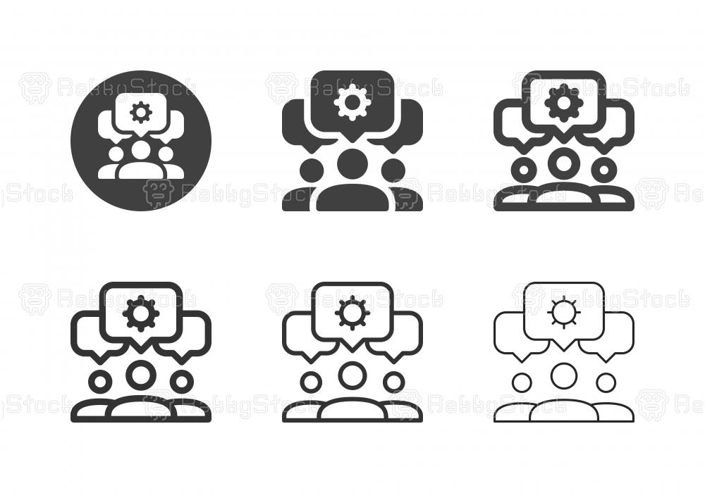 Partnership Teamwork Icons - Multi Series
