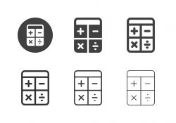 Calculator Icons - Multi Series