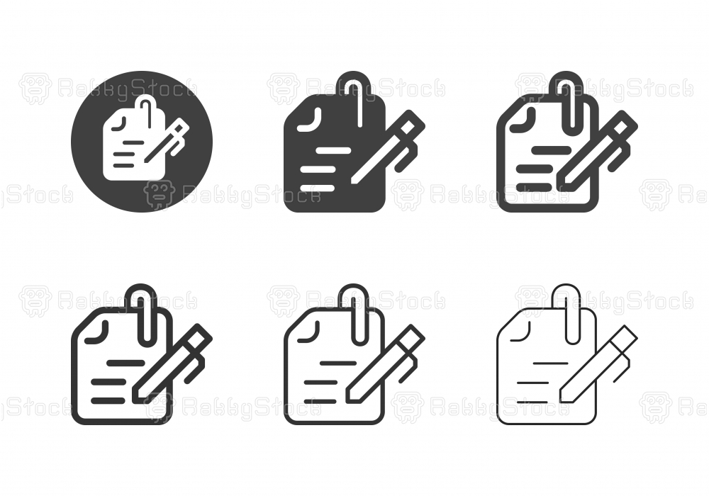 Writing Instrument Icons - Multi Series