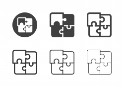 Jigsaw Puzzle Icons - Multi Series