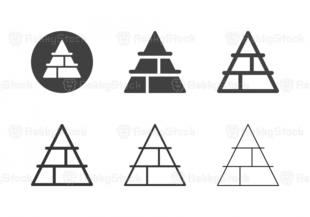 Pyramid Chart Icons - Multi Series