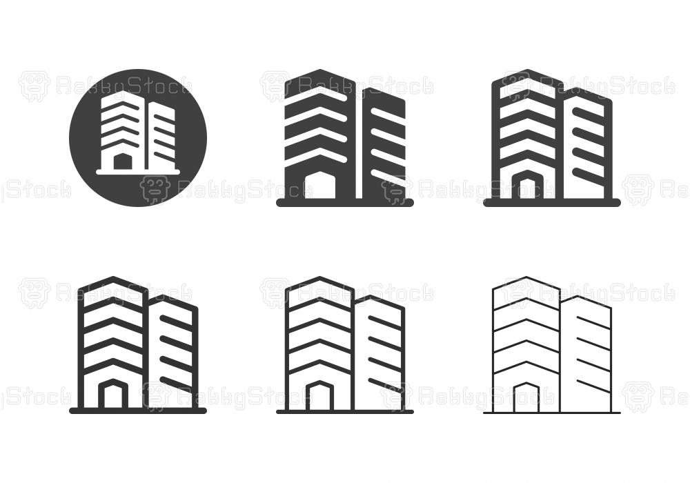 Office Building Icons - Multi Series
