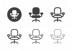 Office Chair Icons - Multi Series