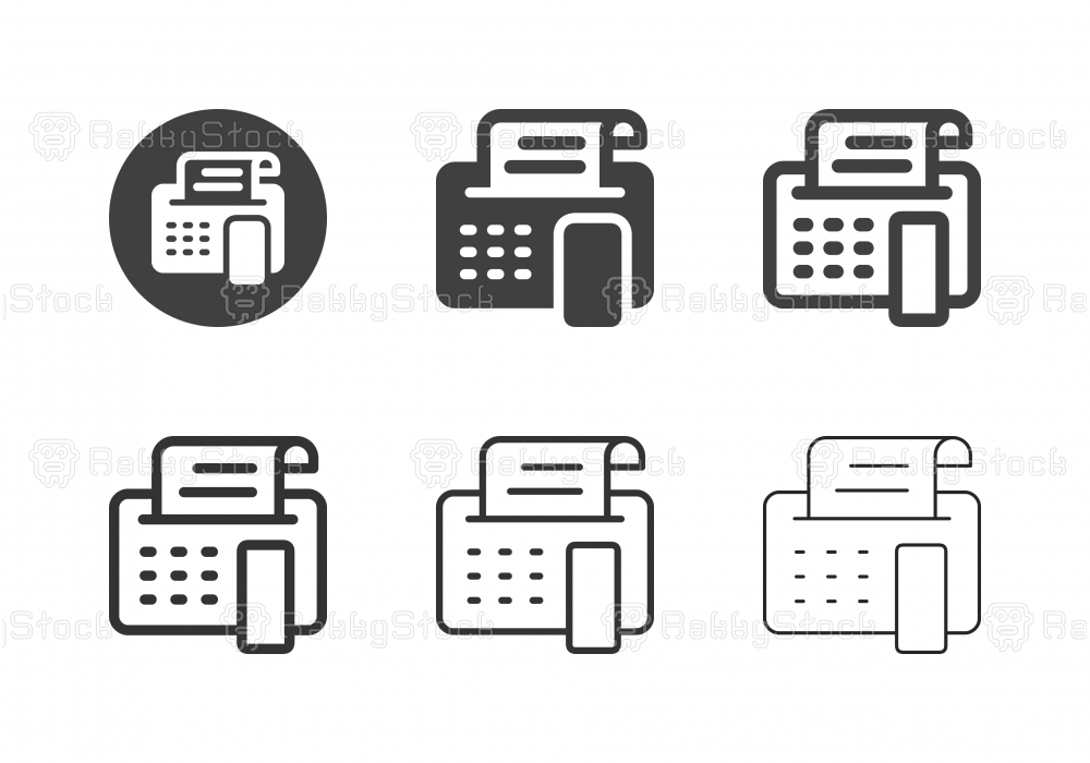 Fax Machine Icons - Multi Series